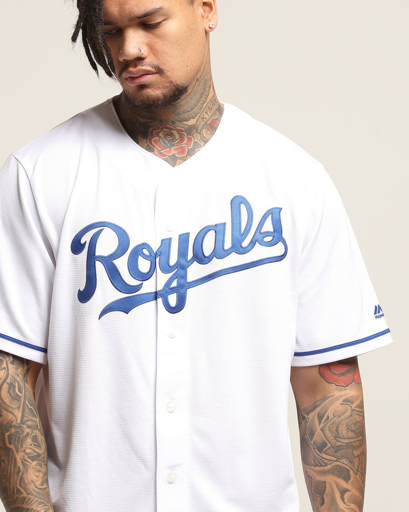 Majestic Athletic Kansas City Royals Cool Base Jersey White