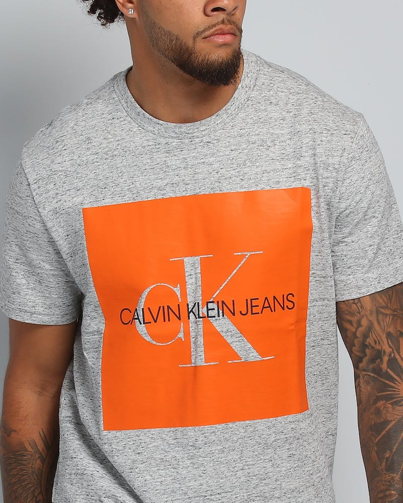 Calvin Klein Shape Reissue Crew Neck Tee Grey Heather