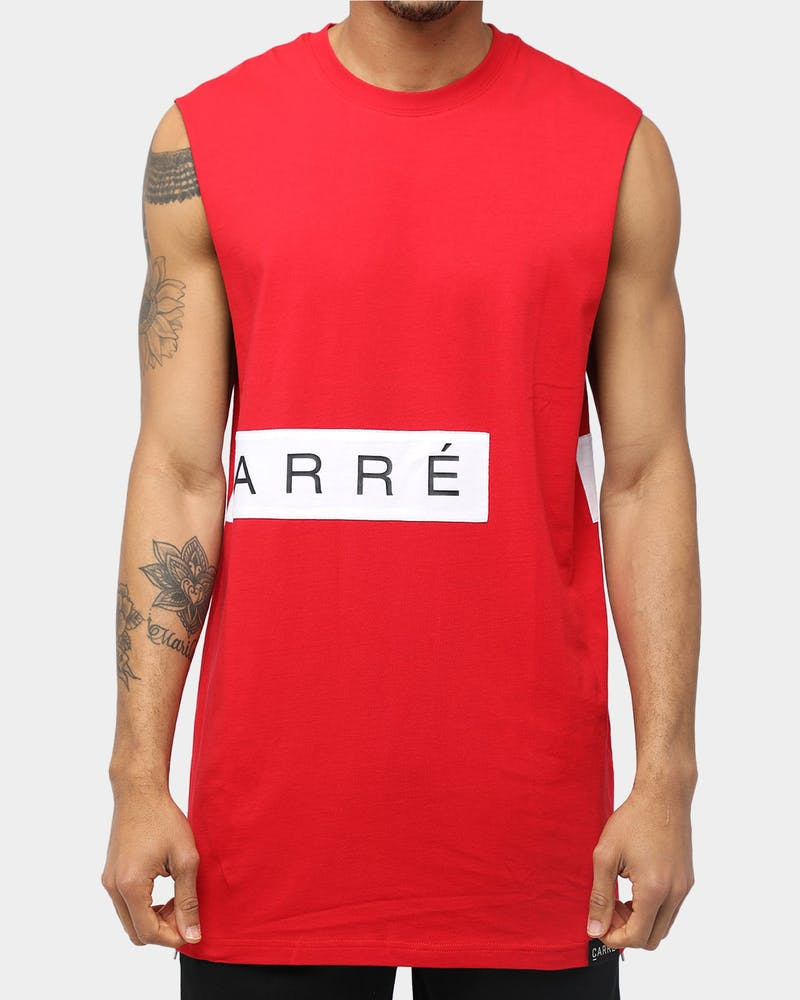 Carré Piece Muscle Red/White