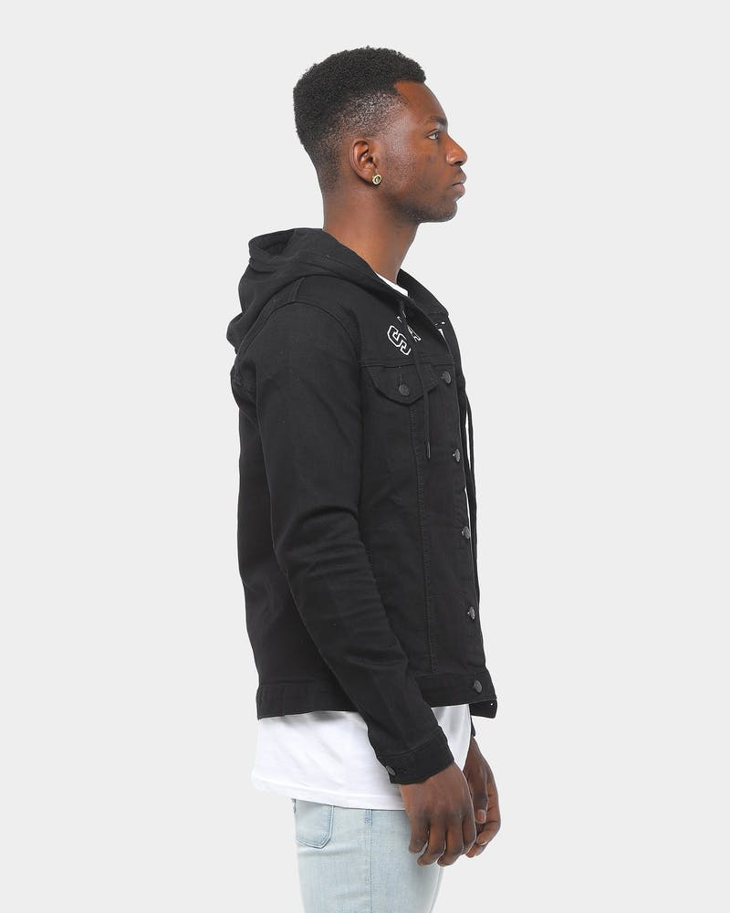 Saint Morta London Hooded Denim Jacket Black