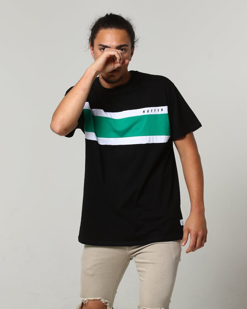 Huffer Squad Sup Tee 	Black/Palm Green