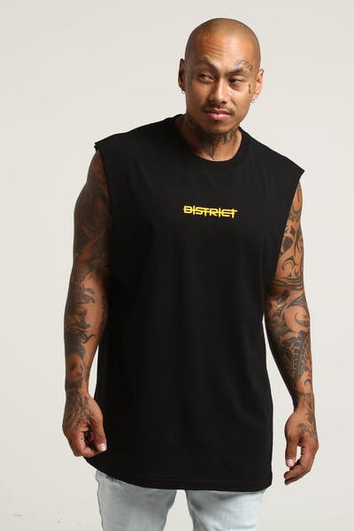 District Goods Barbwire Muscle Tee Black