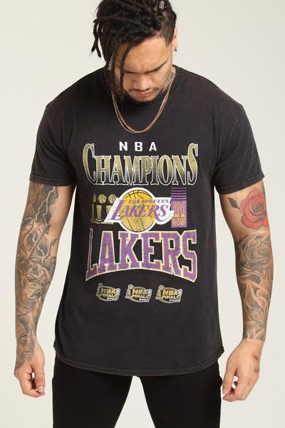 a6f3d1ec3f3 Mitchell & Ness Kobe Bryant X Los Angeles Lakers Vintage Champ Tee Black