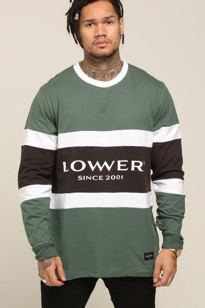 Lower Executive Panel LS Tee Green/White/Charcoal