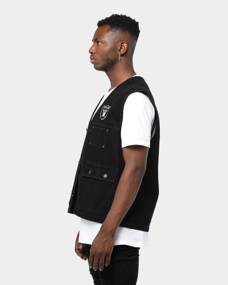 Supreme NFL X Raiders X '47 Brand Denim Vest Black