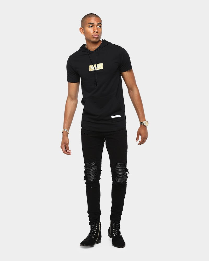 Saint Morta Stadium Hoodrat Tall Tee Black/Gold