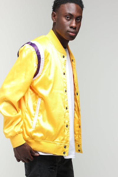 New Slaves Varsity Sports Jacket Yellow/White/Purple