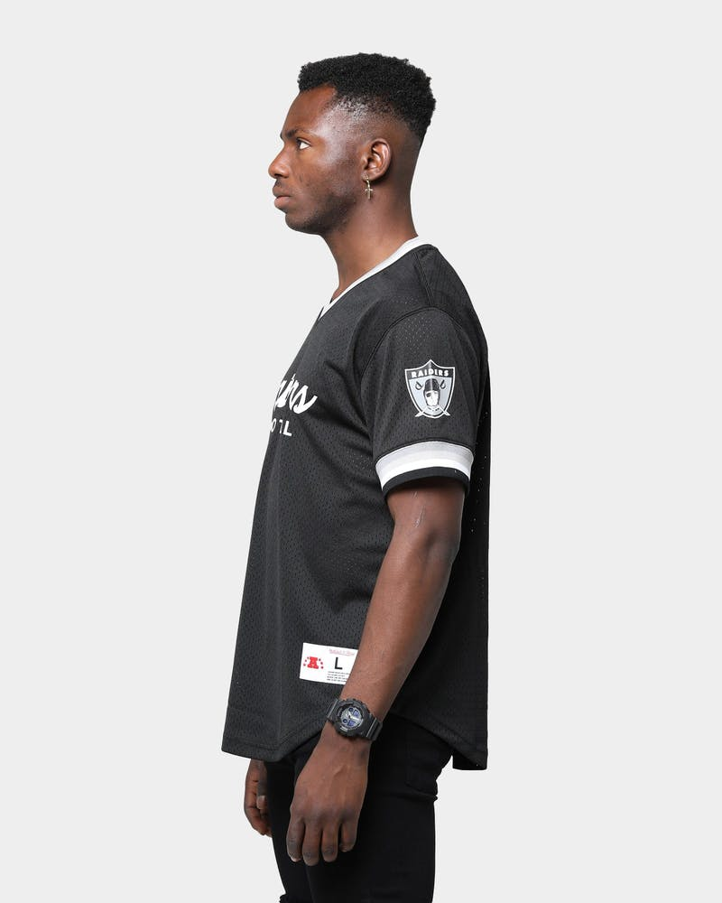 Mitchell & Ness Raiders Mesh V Neck Black