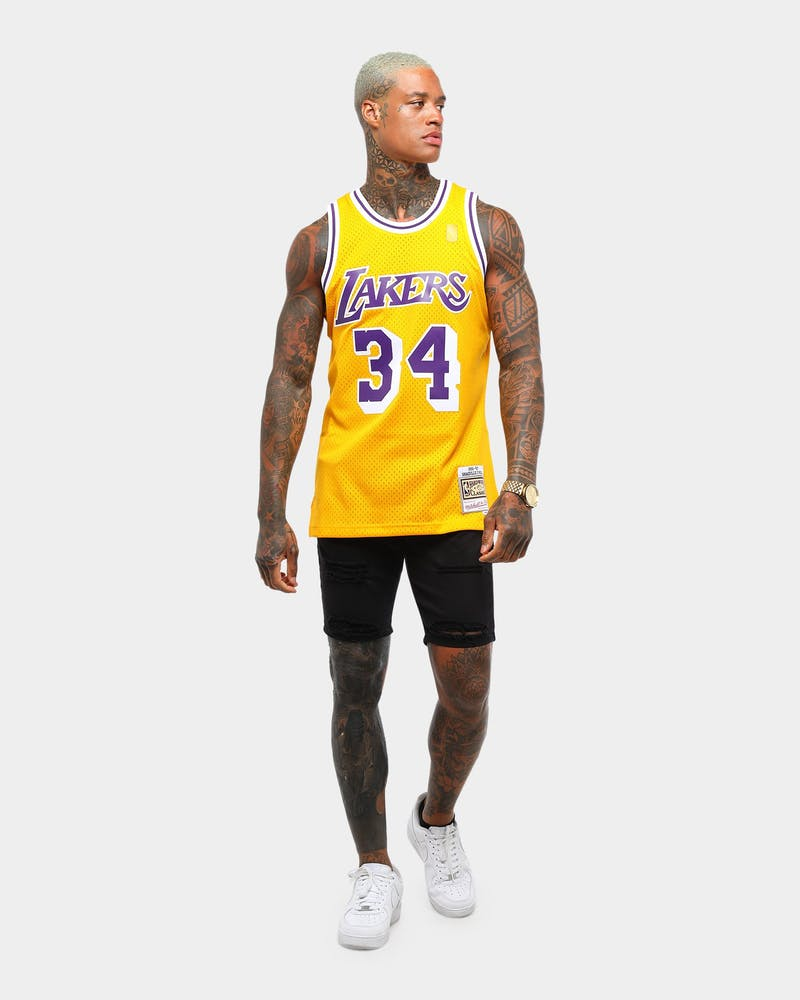 Mitchell & Ness Los Angeles Lakers Shaquille O'Neal '96-'97 #34 Swingman Jersey Yellow