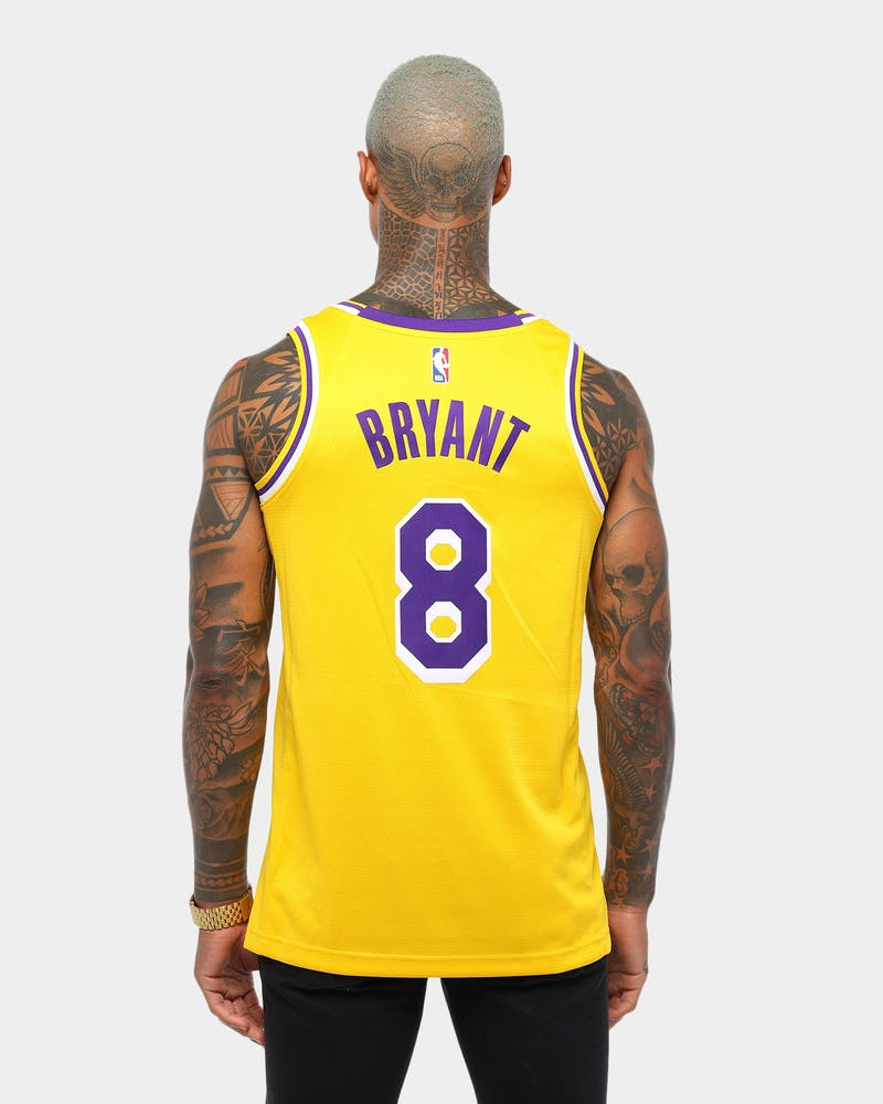 Nike Los Angeles Lakers Kobe Bryant #8 Icon Edition Swingman Jersey Amarillo/Purple/White