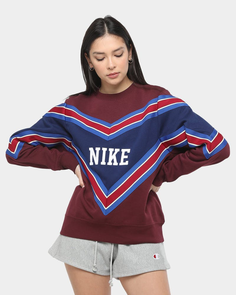 Nike Women's NSW Crew Maroon/Blue