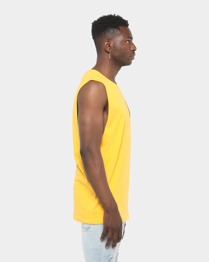 Majestic Athletic Pittsburgh Pirates Yisser Muscle Tee Citrus