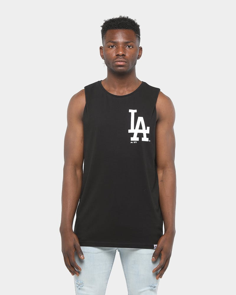 Majestic Athletic Los Angeles Dodgers Yisser Muscle Tee Black