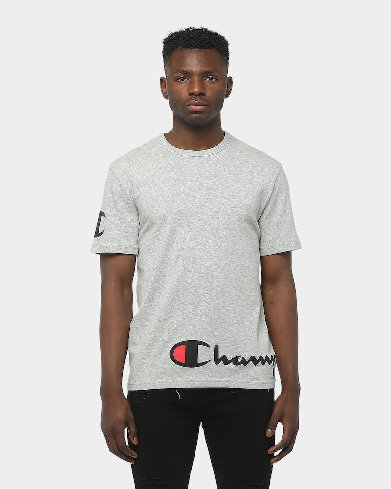 Champion Heritage Wrap Script Tee Grey Heather