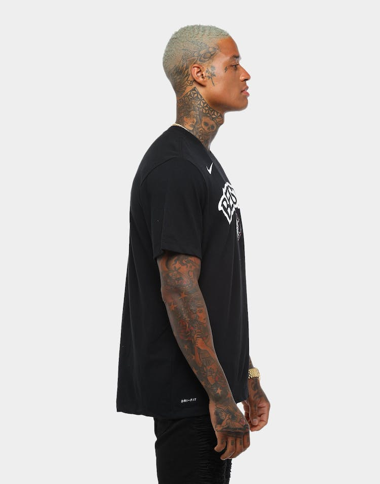 vast selection buy good new products Nike Brooklyn Nets Nike Dry Fit City Edition Logo Tee Black ...