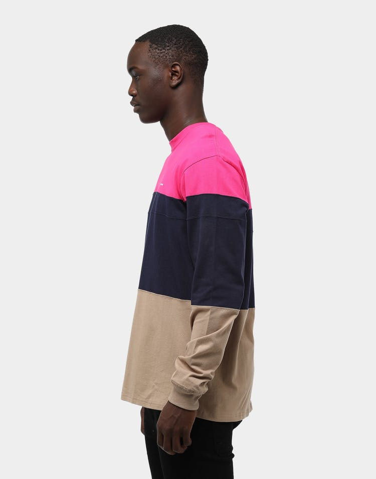Thing Thing Men's Diced LS Tee Magenta/Navy