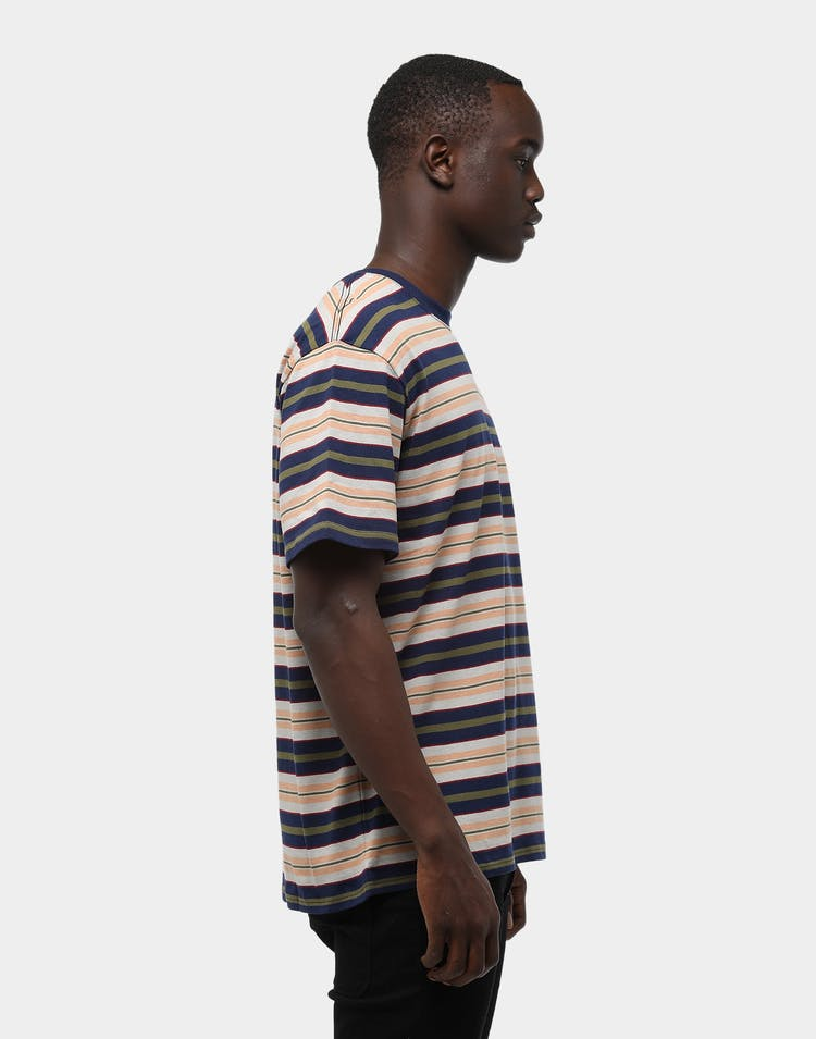 Thing Thing Men's Striped SS Tee Navy Stripe