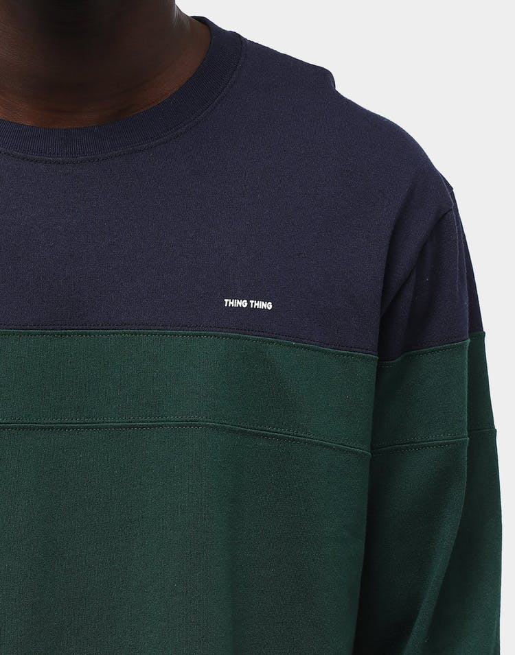 Thing Thing Men's Diced LS Tee Navy/Army/Raspberry