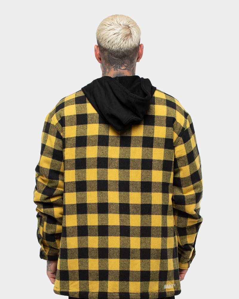 Saint Morta Men's Assassin Hooded Flannel Yellow/Black