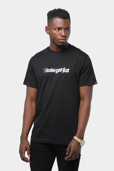 Rats Get Fat Guard Dog SS Tee Black