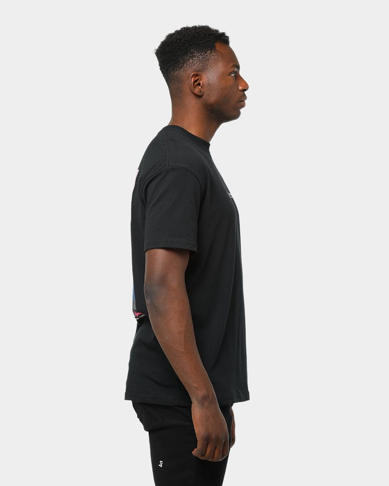 Men's Stussy Fire Palm Short Sleeve T-Shirt Black