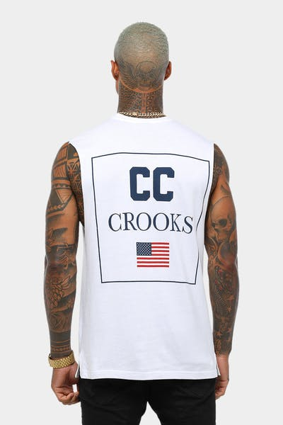 Crooks & Castles USA Muscle Tee White