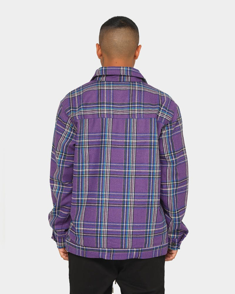ENES Deacon Flannel Jacket Purple/Black