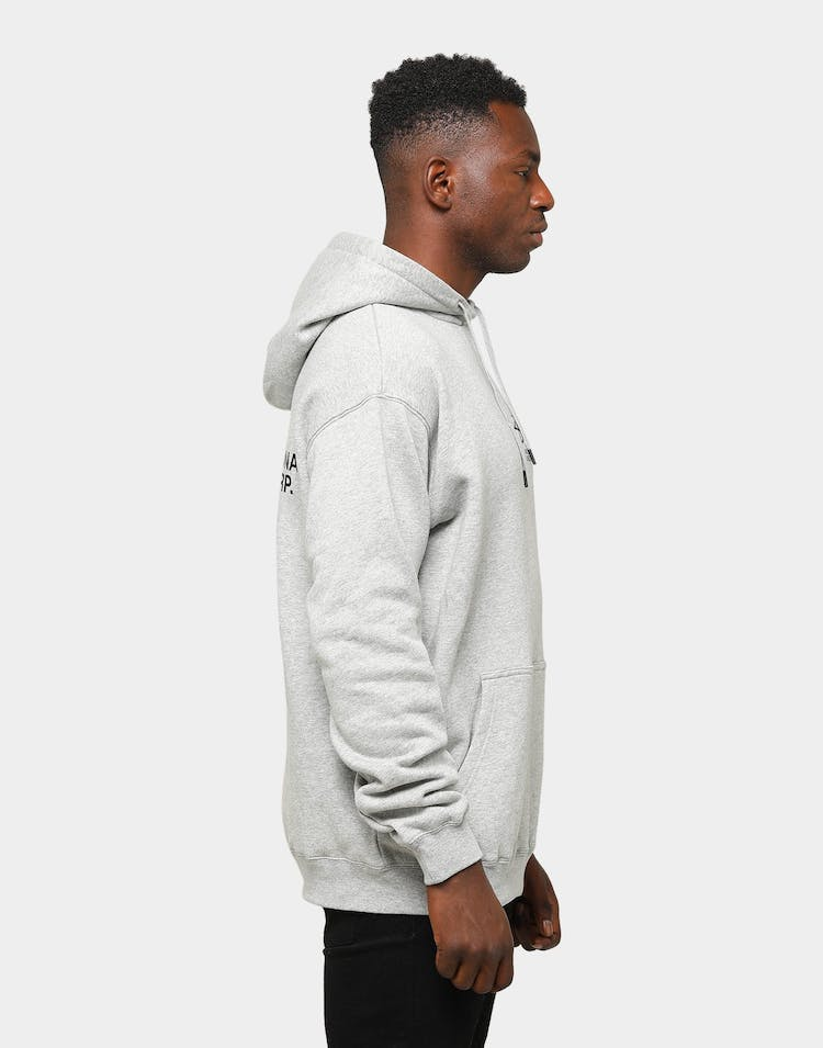 Stussy Men's Design Corp. Hoodie True Grey Marle