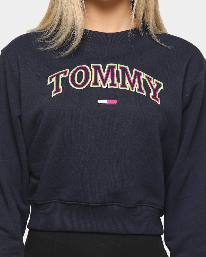 Tommy Jeans Women's Neon Outline Crew Black Iris