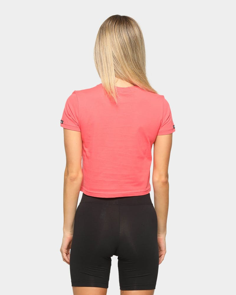 Crooks & Castles Women's Rose Crop T-Shirt Punch