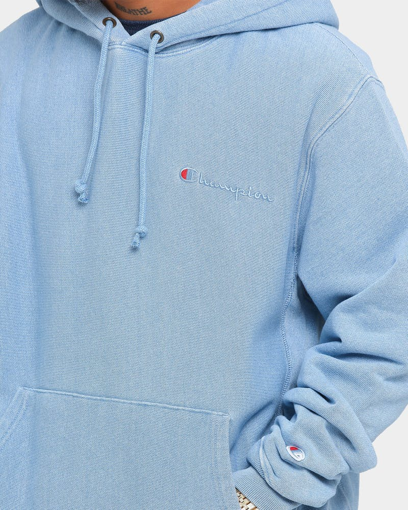 Champion Reverse Weave Rebound Hoodie Chambray Washed