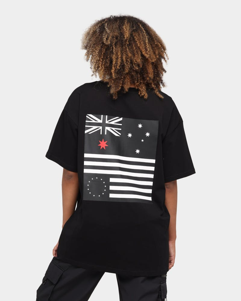 Black Scale Black Scale X Culture Kings Flag Short Sleeve T-Shirt Black