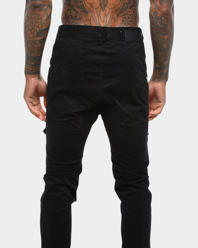 Nena and Pasadena Flight Elastic Ankle Chino Jet Black