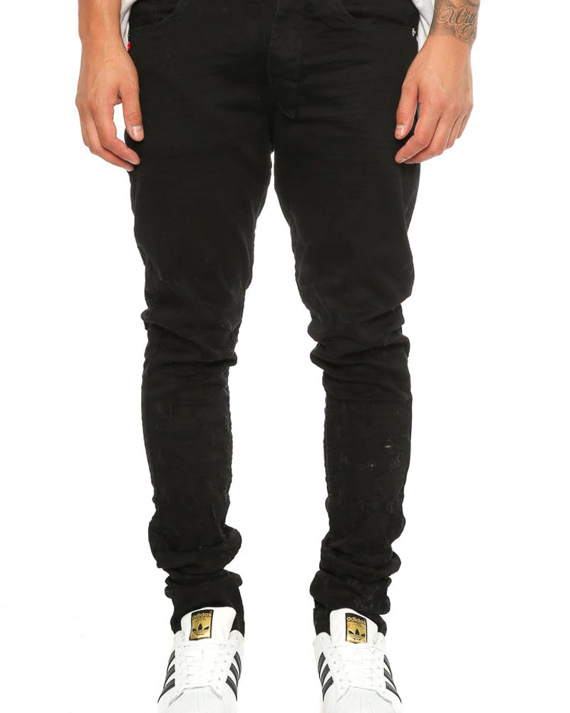Other UK Clothing Limited Blistered Jean Jet Black