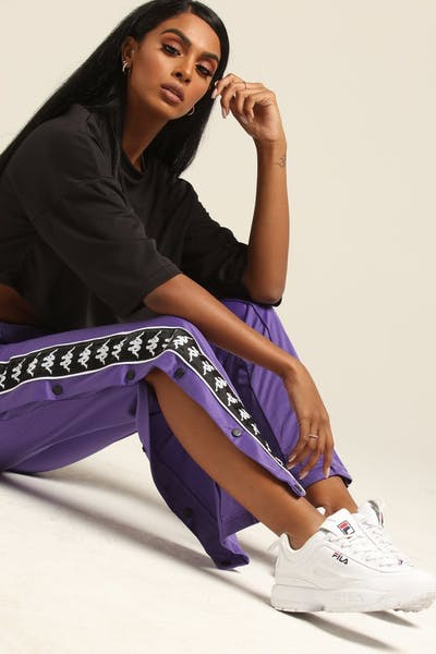 KAPPA WOMEN'S AUTHENTIC HECTOR PANT VIOLET/BLACK