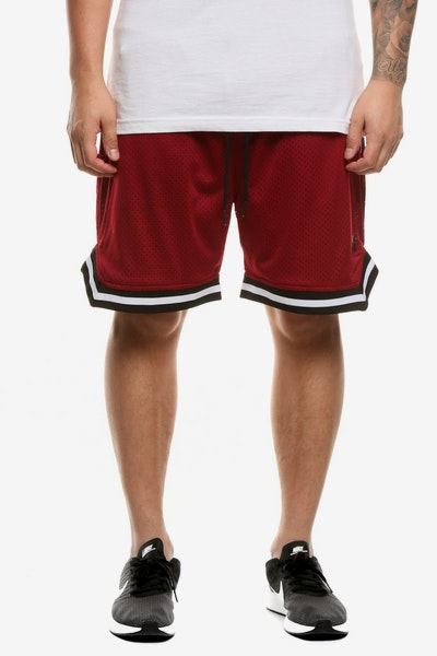 Saint Morta Mesh Basketball Short Maroon