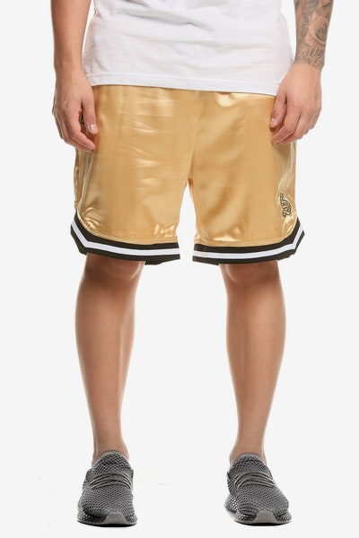 Saint Morta MVP Satin Basketball Shorts Gold