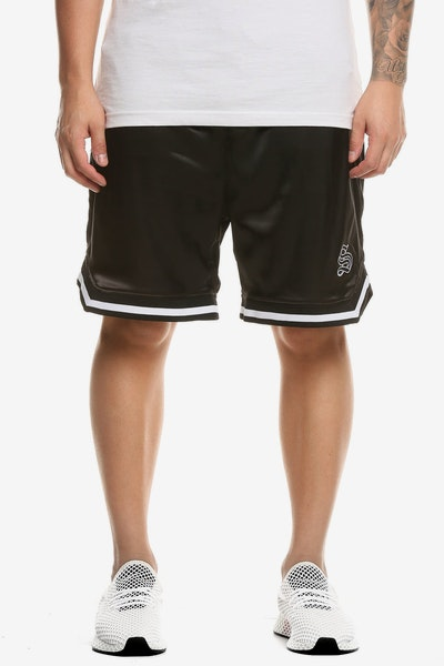 Saint Morta MVP Satin Basketball Shorts Black/White
