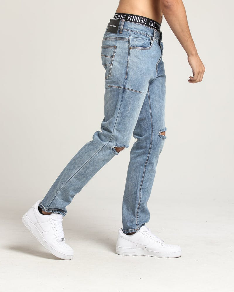 Thing Thing Alt Knee Ripped Jeans Light blue