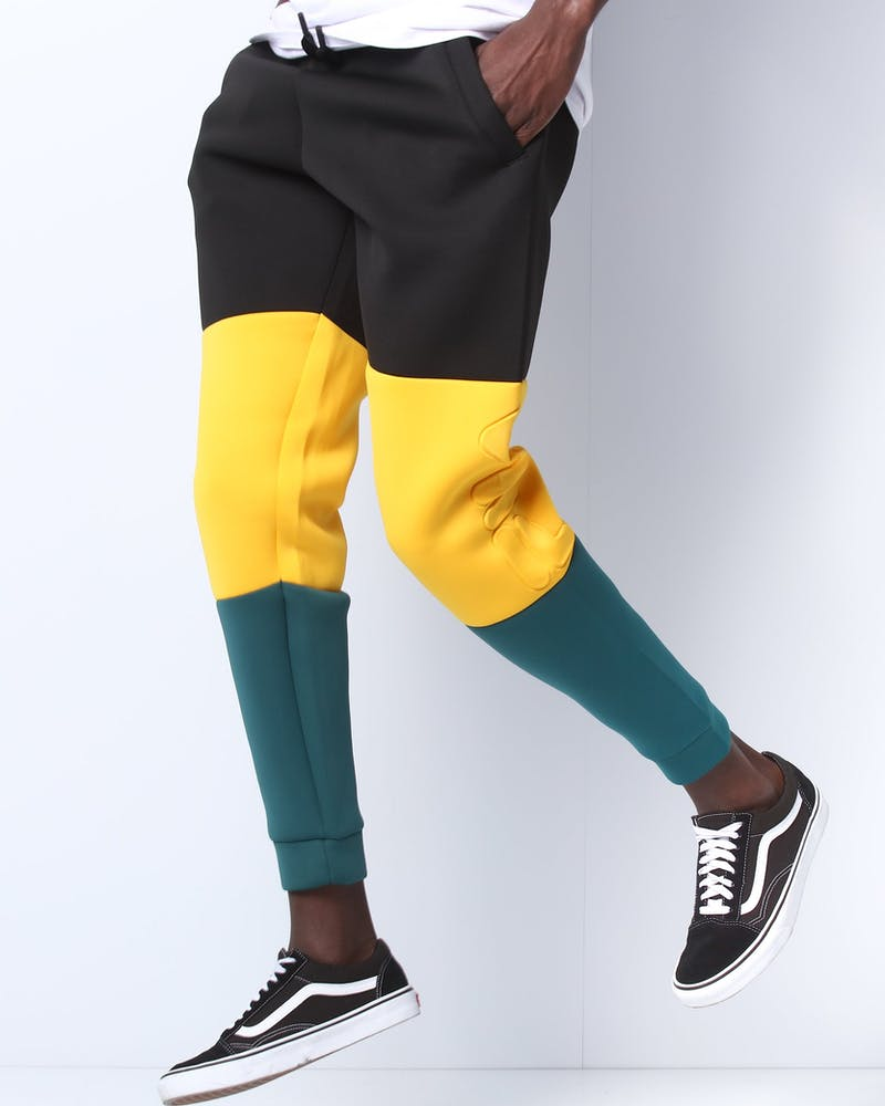 Fila Cosmo Scuba Embossed Pant Black/Green/Yellow