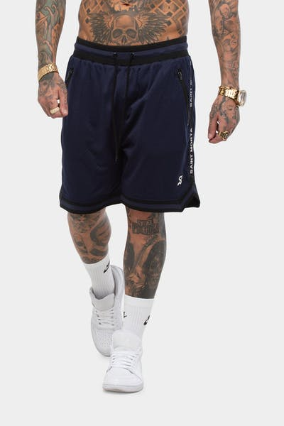 SAINT MORTA TRACK MESH BASKETBALL SHORT NAVY/BLACK