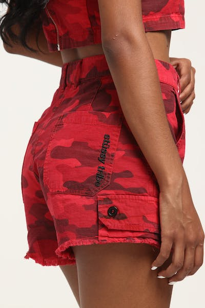 Stussy Women's Camo Short Red/Camo