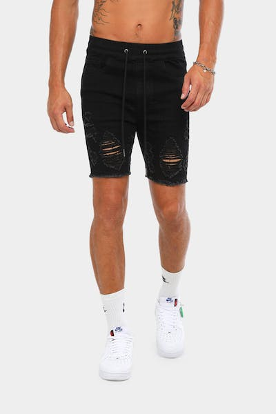 New Slaves Marksmen Denim Short Black