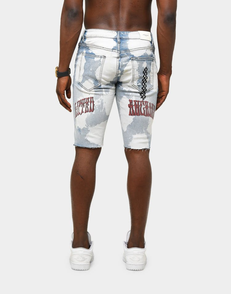 Lifted Anchors Men's Barker Denim Shorts Blue