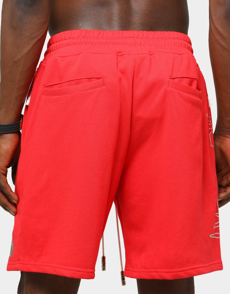 Lifted Anchors Men's Malware Sweat Shorts Red