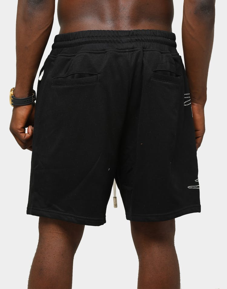 Lifted Anchors Men's Malware Sweat Shorts Black