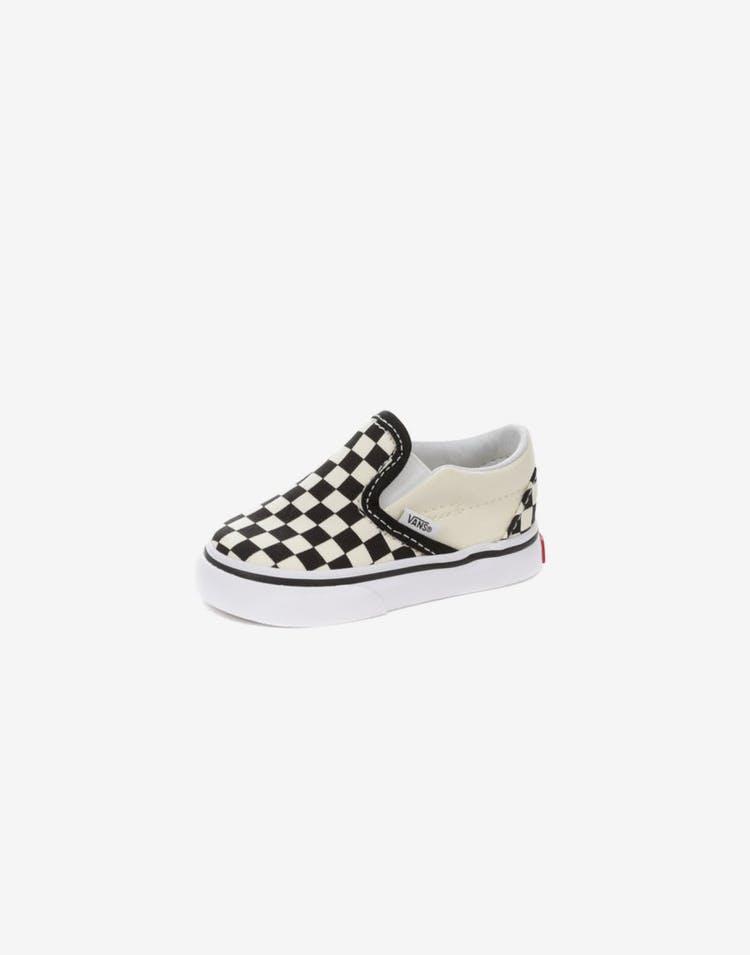 f34775315d Vans Classic Slip On Toddler (Check) Black White – Culture Kings NZ