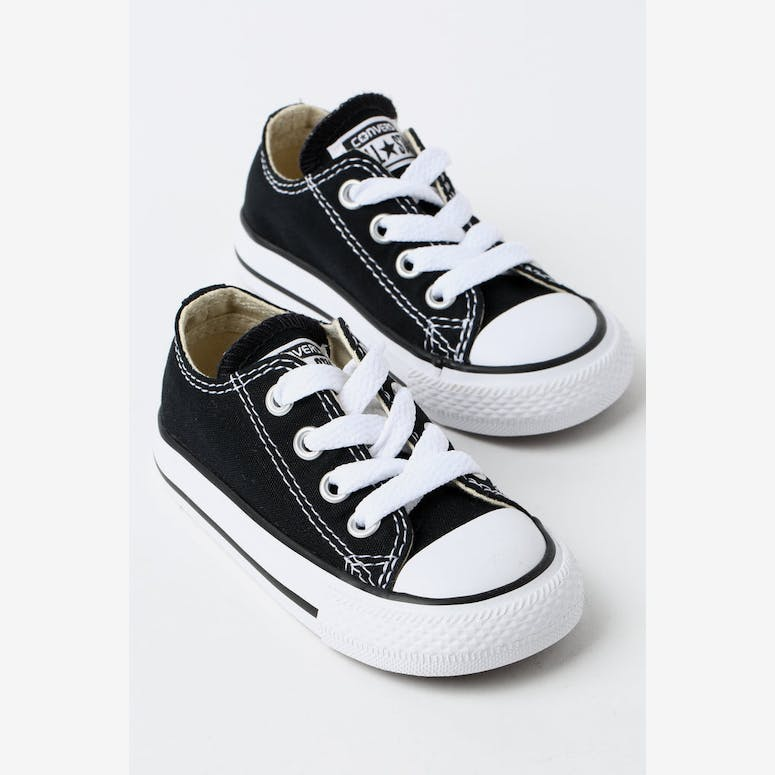21221022f080 CONVERSE INFANT CHUCK TAYLOR ALL STAR LOW TOP BLACK WHITE – Culture ...