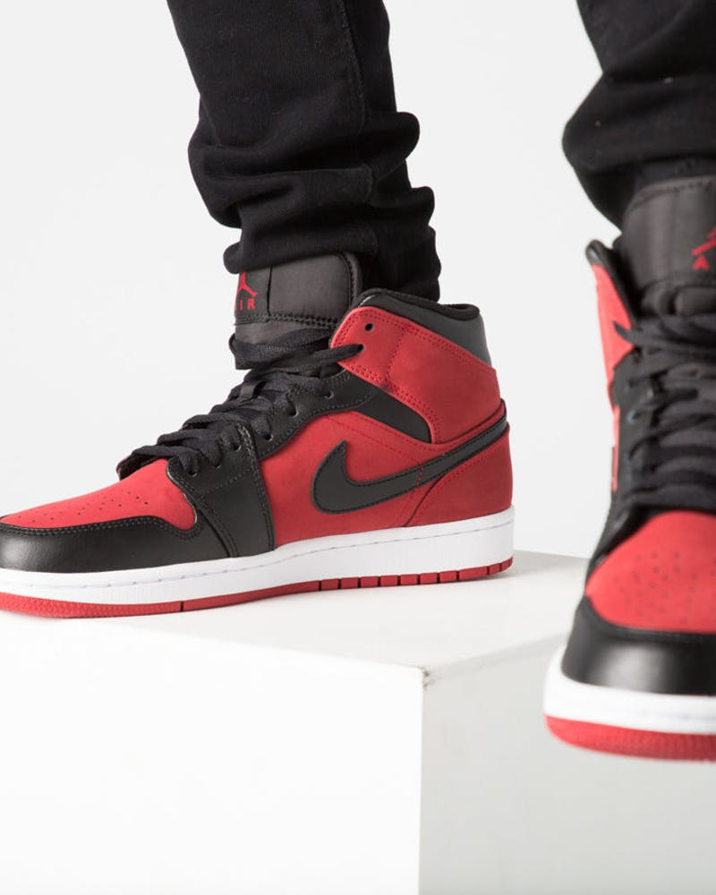 Air Jordan 1 Mid Red/Black/White