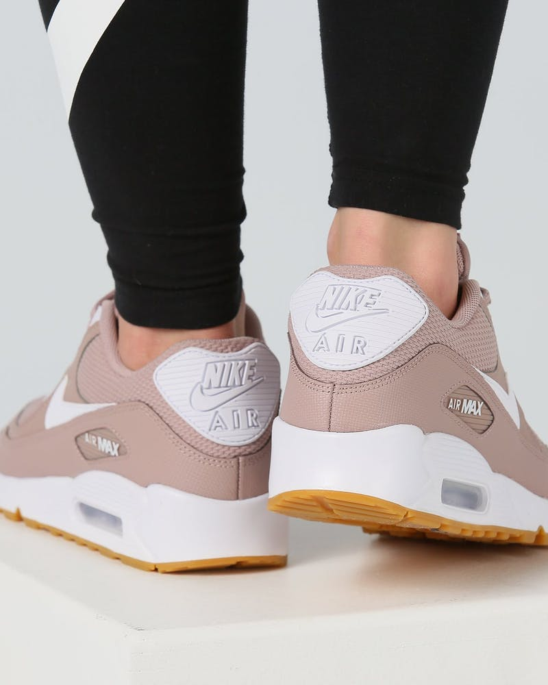 Nike Women's Air Max 90 Taupe/White/Gum